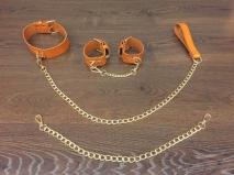 БДСМ набор с поводком для выгула двух сук