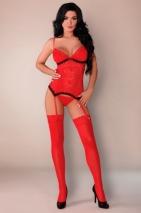 Красный кружевной комплект Claudia LXL