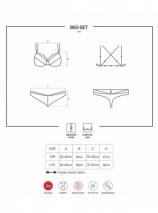 Белоснежный кружевной комплект белья с украшением на бюсте и косточками LXL