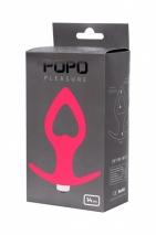 Крупная анальная вибровтулка в виде сердца POPO Pleasure (7 режимов)