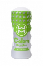 Мастурбатор нереалистичный в колбе Colors Edge Green MensMax