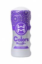 Мастурбатор нереалистичный в колбе Colors Flick Purple MensMax