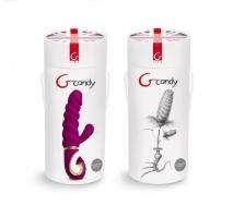 Вибратор для двойной стимуляции Gvibe Gcandy - Sweet Raspberry (2 мотора, 6 режимов)