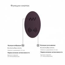 Вакуумный стимулятор клитора с воздействием на точку G Irresistible Desirable (10+11 режимов)