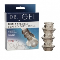 Стимулирующая рельефная насадка на пенис Dr. Joel Kaplan Beaded Girth Ring Triple Stacker