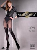 Фантазийные черные колготки с имитацией чулок Demi 2 (40 den)