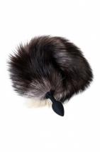 Небольшая анальная втулка с длинным пушистым хвостом чернобурой лисы POPO Pleasure