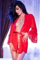 Красный эротический пеньюар ChiliRose M