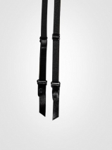 Черный гладкий пояс для чулок Orchid S