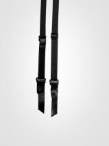Черный гладкий пояс для чулок Orchid M