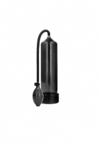 Черная ручная вакуумная помпа с насосом в виде груши Classic Penis Pump