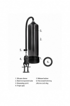 Ручная вакуумная помпа для мужчин с насосом в виде поршня Deluxe Beginner Pump