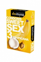 Гладкие презервативы Luxe DOMINO SWEETSEX со вкусом тропических фруктов (3 шт)