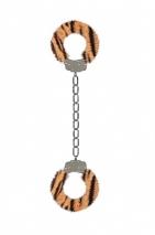 Металлические наножники с тигровой меховой обивкой для щиколоток Furry Ankle Cuffs