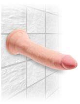 Супер гибкий реалистичный фаллос на присоске King Cock Plus 7'' Triple Density Cock