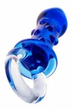 Стеклянный анальный стимулятор с пупырышками Sexus Glass