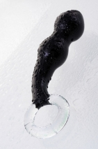 Черный стеклянный стимулятор простаты Sexus Glass
