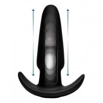 Анальная пробка с эффектом толкания на ДУ XR Brands Kinetic Thumping 7X Medium Anal Plug (7 режимов)