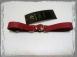 Ременные красные наручники с полукольцом (узкие)0
