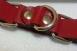 Ременные красные наручники с полукольцом (узкие)1