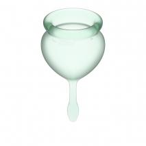 Набор менструальных чаш с хвостиком-капелькой Good Menstrual Cup Light Green