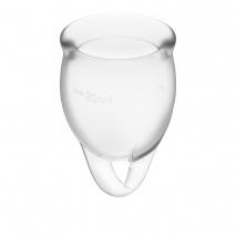 Набор менструальных чаш с хвостиком-петелькой Feel Сonfident Menstrual Cup Transparent