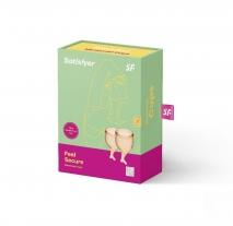 Набор менструальных чаш с хвостиком Feel Secure Menstrual Cup Orange
