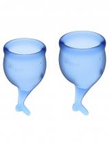 Набор менструальных чаш с хвостиком Feel Secure Menstrual Cup Dark Blue