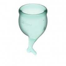 Набор менструальных чаш с хвостиком Feel Secure Menstrual Cup Dark Green