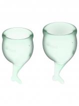 Набор менструальных чаш с хвостиком Feel Secure Menstrual Cup Light Green