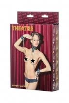Кожаный комплект (ошейник с наручниками) TOYFA Theatre