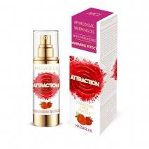 Разогревающее массажное масло MAI ATTRACTION с феромонами и с ароматом клубники (30 мл)