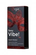 Гель для массажа ORGIE Sexy Vibe Hot с разогревающим и вибрирующим эффектом (15 мл)