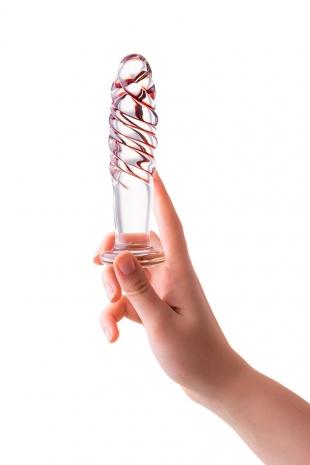 Спиралевидный анальный стимулятор из стекла Sexus Glass