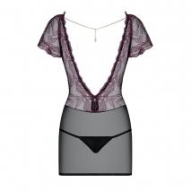 Сорочка SEDUSIA Chemise с открытой спинкой и украшением в виде цепочки SM