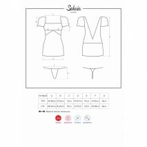 Сорочка SEDUSIA Chemise с открытой спинкой и украшением в виде цепочки LXL
