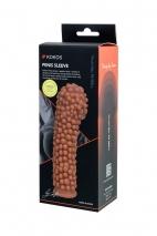 Супер рельефная насадка на пенис с пупырышками KOKOS L