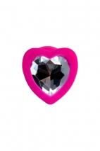 Малая силиконовая втулка с прозрачным кристаллом в виде сердца Diamond Heart