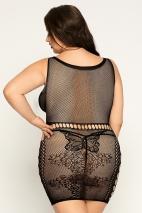 Бесшовное эластичное платье с имитацией топа и юбки Starr XXL