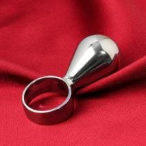 Анальная мини-втулка с кольцом ГРУША