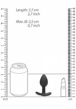 Анальная пробка для ношения с тремя кристаллами Diamond Butt Plug With Handle