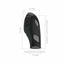 Рельефная вибронасадка на палец Lich (1 скорость)