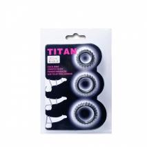 Набор ребристых эреционных колец TITAN
