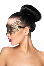 Золотистая карнавальная маска Беллатрикс