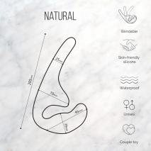 Безремневой анальный страпон Natural Seduction Purple