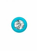 Анальная цепочка с прозрачным кристаллом Emotions Chummy Turquoise