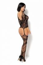 Комбинезон Esmeralda с длинным рукавом и имтацией чулок SL