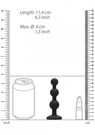 Анальная елочка с кристаллом Beaded Diamond Butt Plug