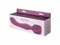 Двусторонний перезаряжаемый вибромассажер Heating Wand Purple с подогревом (10 режимов)
