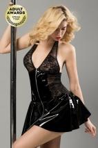 Платье лаковое на молнии Harlow XL
